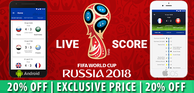 Live Scores Russia World Cup 2018 iOS App