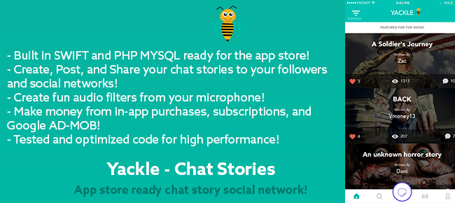 Yackle - Chat Stories